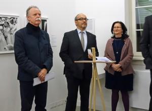 Eröffnung in Frankfurt, 12.3.2015, mit Hans-Michael Koetzle, Dr. Andreas Kaufmann und Celina Lunsford (Fotos: TW)
