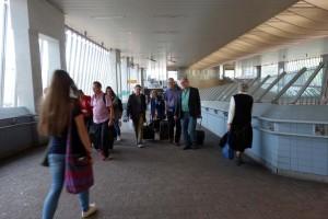 Ankunft der Delegation aus Bristol am Bahnhof
