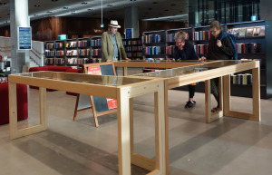 Exhibition in the Aarhus library