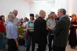 2011 Dirk Alvermann (rechts) nach seinem Vortrag