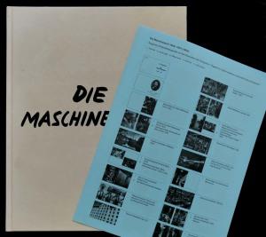"""Maschinenzeit (mit Bilderläuterungsbeilage analog zum Buch """"Fabrik"""" von 1943)"""