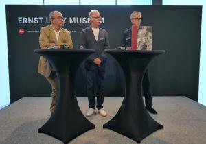 Eröffnung der Ausstellung mit Dr. Andreas Kaufmann (Leica), Hans-Michael Koetzle und Museumsdirektor Reiner Packeiser