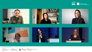 Thomas Seelig, Stefanie Grebe, Linda Conze, Adelheid Comenda, Gebriele Conrath-Scholl, Claudia Dichter (von oben links nach unten rechts)